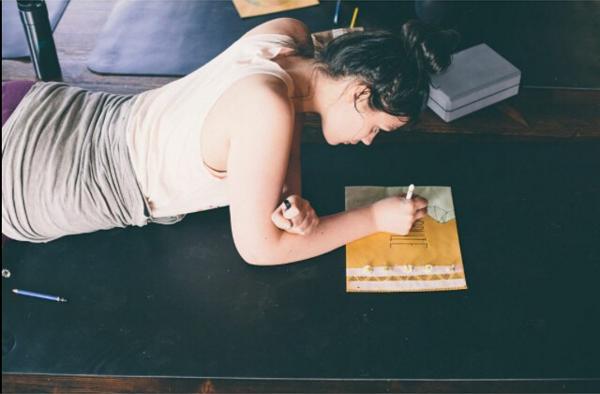 Sophie reflecting at the Girlvana Yoga Retreat. Photo courtesy of Britney Gill.